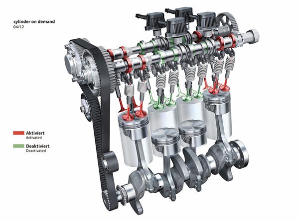 В отличие от обоих устанавливаемых до этого двига телей tsi наддув на двигателе tsi 1,4 л/90 квт осу ществляется исключительно турбонагнетателем